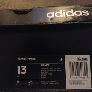 the latest 094f3 570a1 adidas Shoes - Adidas Element Race Running (DB1451) Mens Size 13